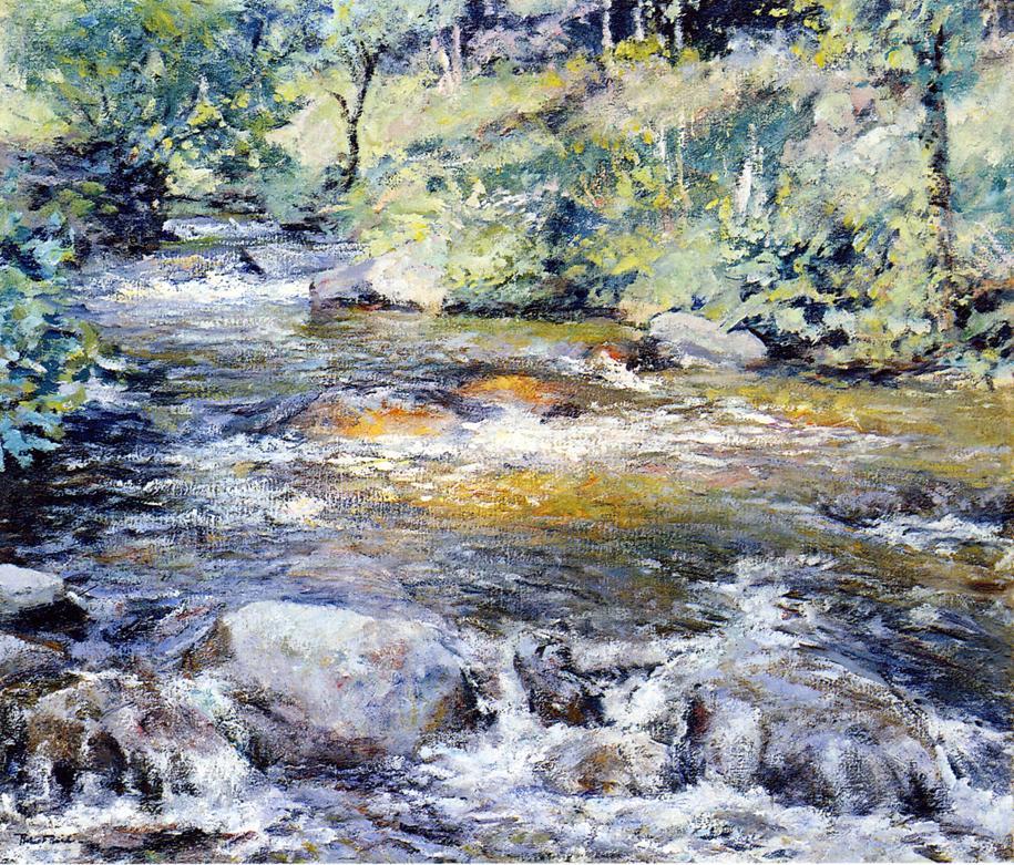 The Brook Date unknown | Robert Lewis Reid | oil painting