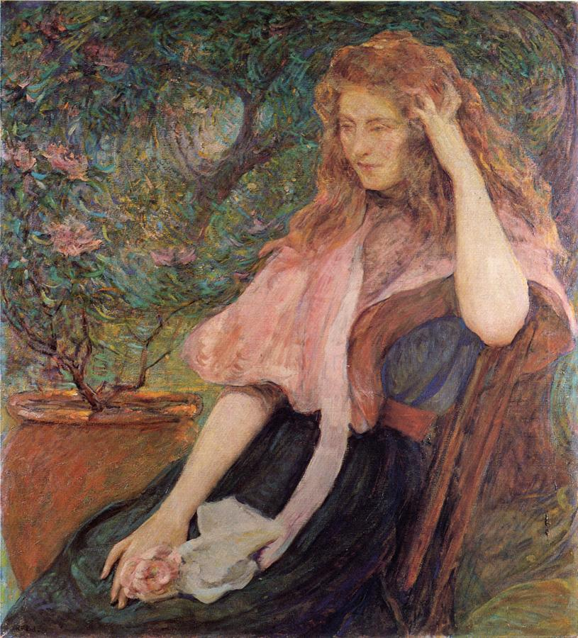 The Pink Cape Date unknown | Robert Lewis Reid | oil painting