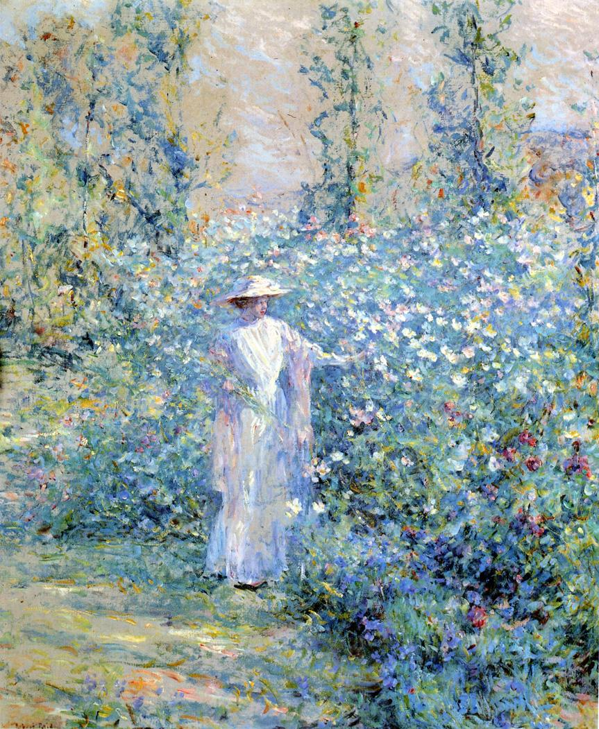 In the Flower Garden 1900 | Robert Lewis Reid | oil painting