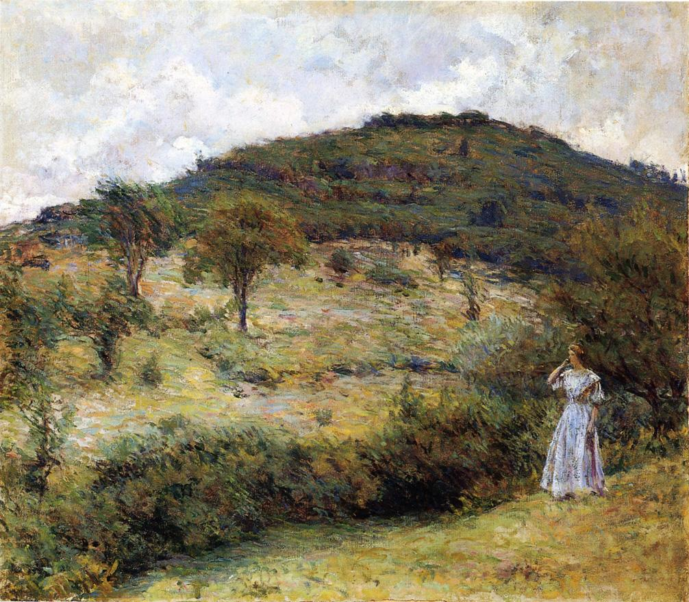 Springtime Stroll Date unknown | Robert Lewis Reid | oil painting