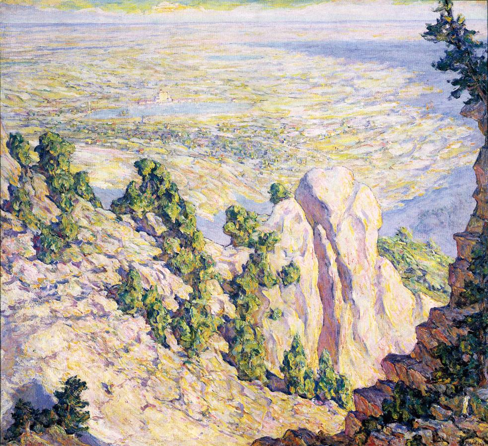 View from a Mountaintop 1920 | Robert Lewis Reid | oil painting
