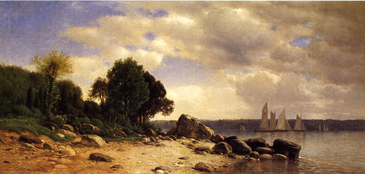 View on the Hudson 1865 1869 | Samuel Colman Jr | oil painting