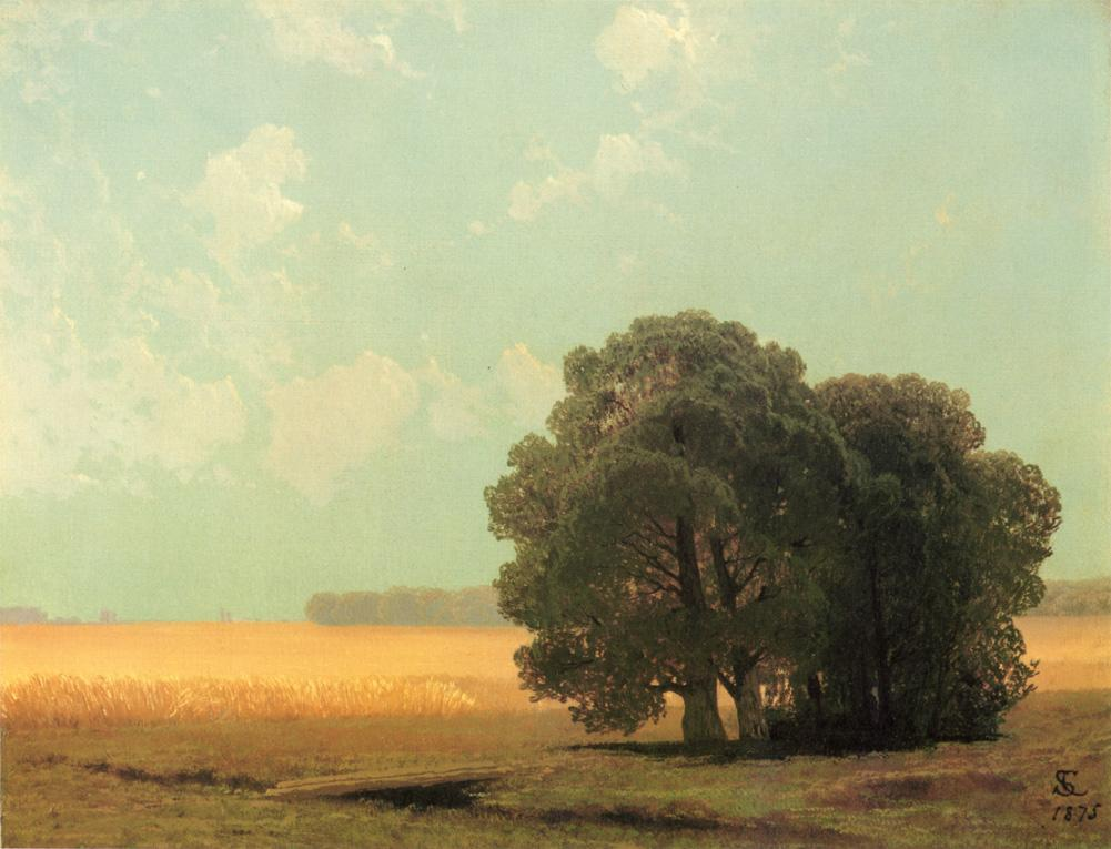 Hayfield Newport Rhode Island 1875 | Samuel Colman Jr | oil painting