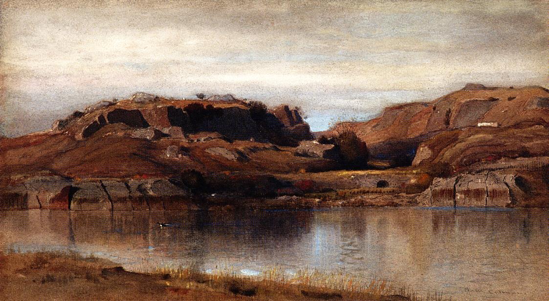 Rocky Landscape 1888 | Samuel Colman Jr | oil painting
