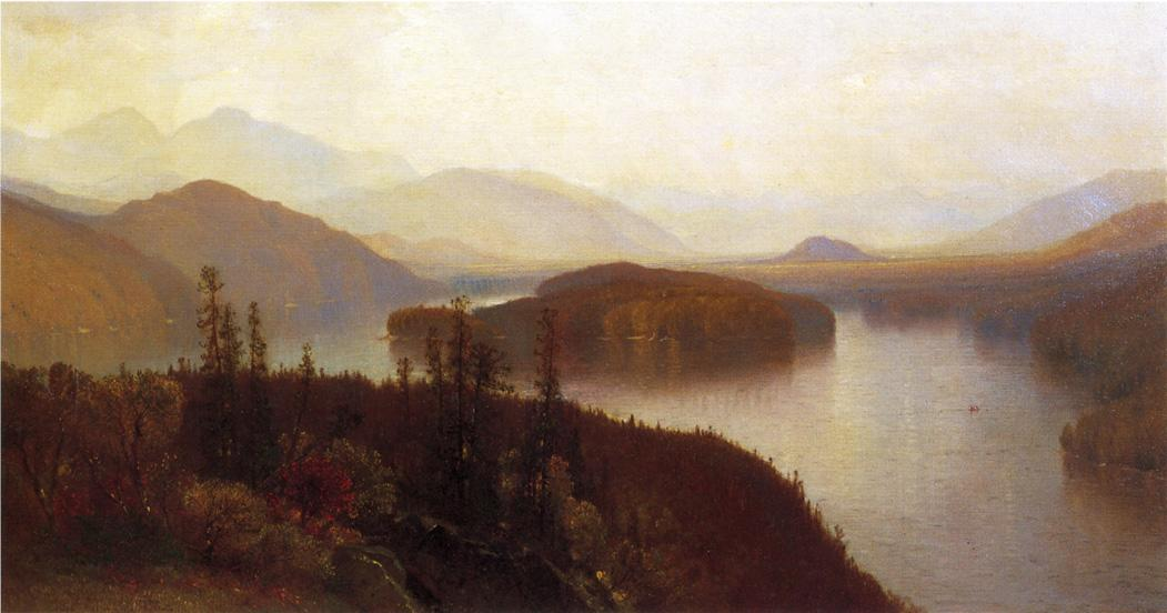 Lake Placid Adirondacks 1869 | Samuel Colman Jr | oil painting
