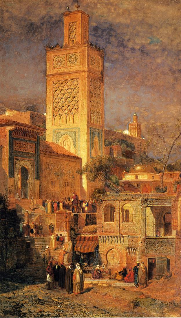 Moorish Mosque of Sidi Halou Tlemcin Tlemcen Algeria 1875 | Samuel Colman Jr | oil painting