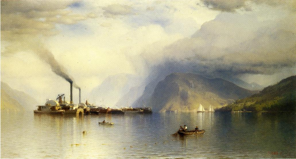 Storm King on the Hudson 1866 | Samuel Colman Jr | oil painting