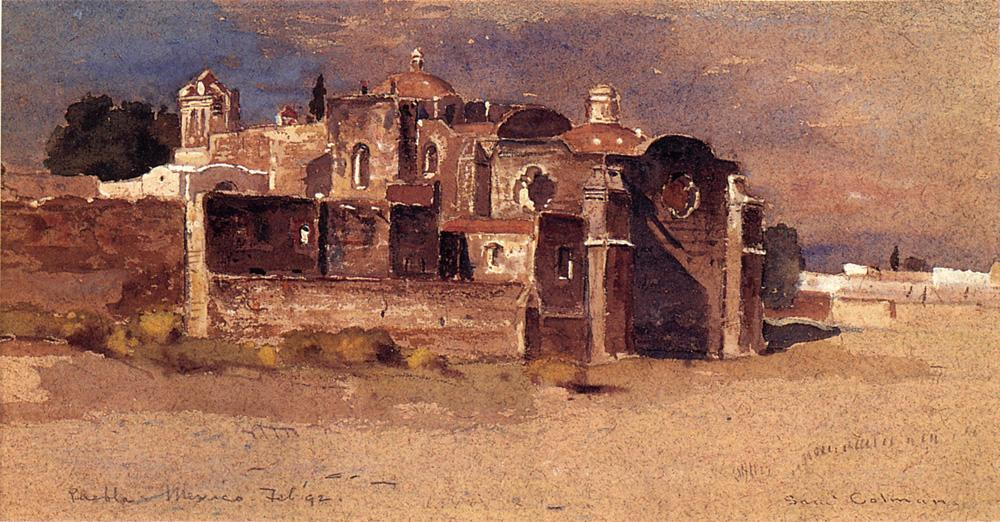 Puebla Mexico 1892 | Samuel Colman Jr | oil painting