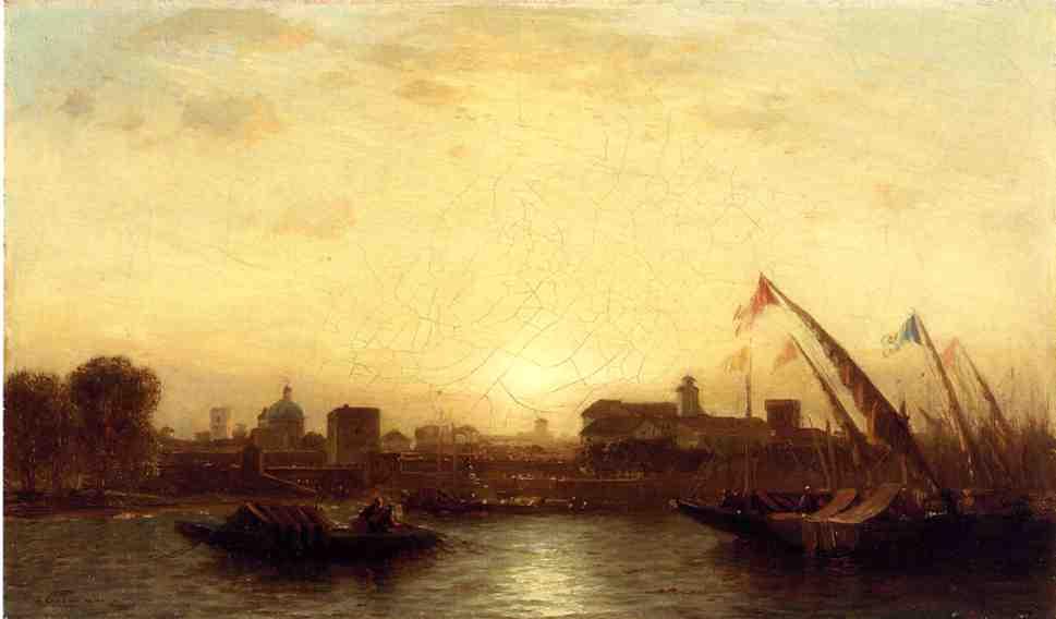 Sunset Seville | Samuel Colman Jr | oil painting