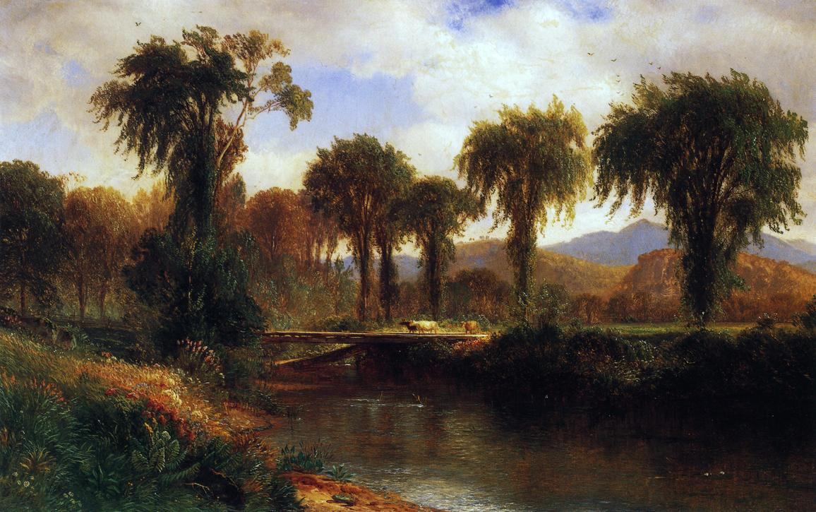 Summer on the Saco Conway Valley 1865 | Samuel Colman Jr | oil painting