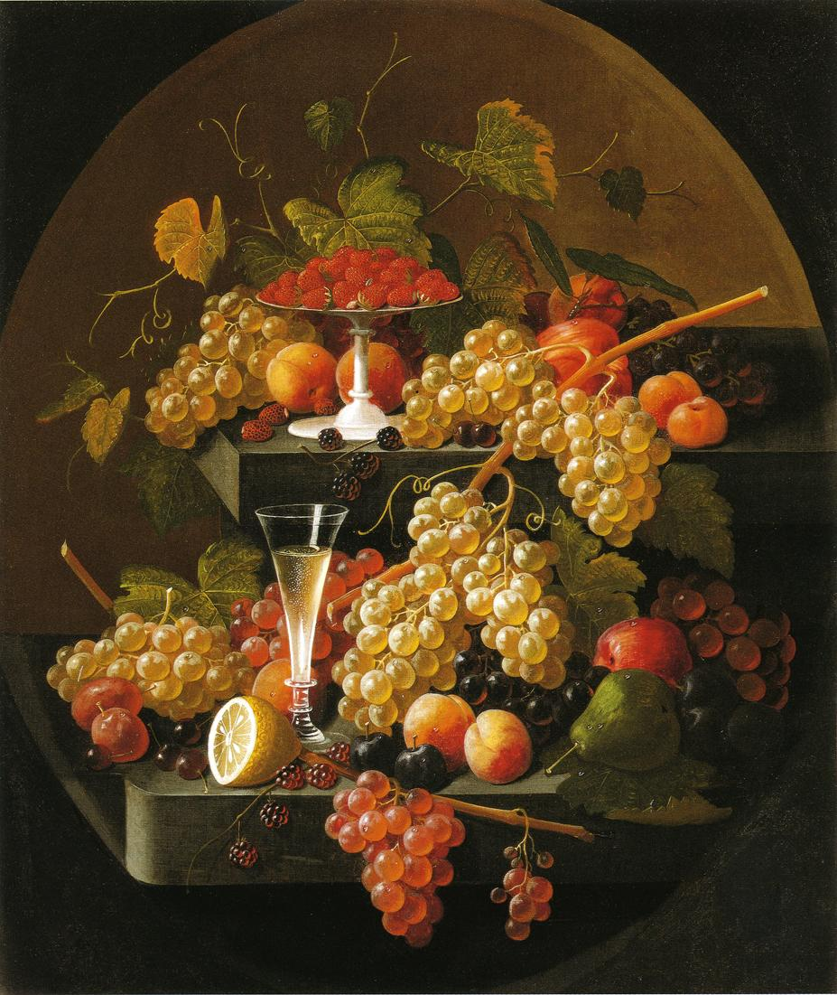 Fruit and Wine Glass 1860 1865 | Severin Roesen | oil painting