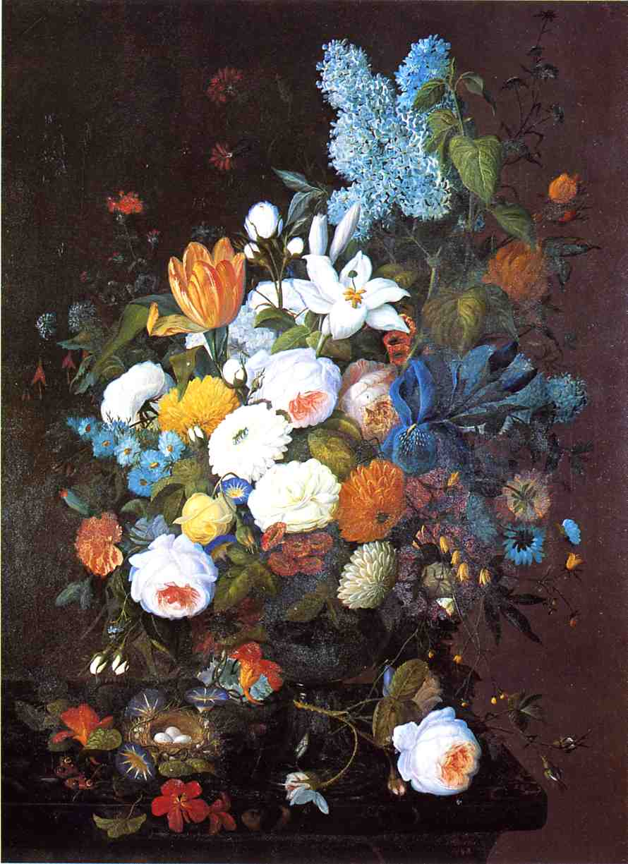 Still Life with Flowers 1848 | Severin Roesen | oil painting