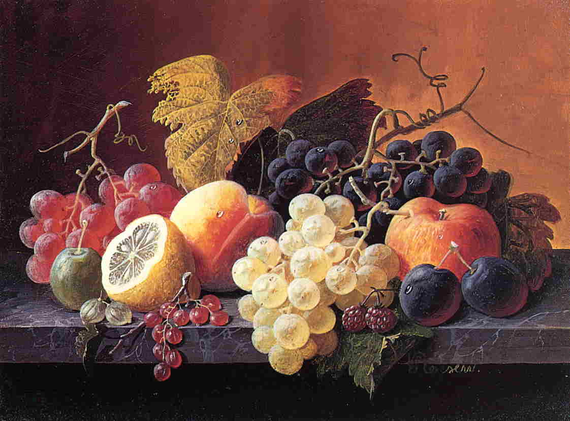 Still Life with Fruit 1856 1859 | Severin Roesen | oil painting