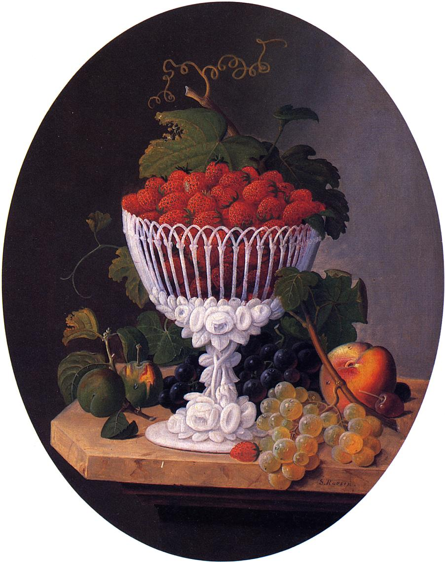 Still Life with Strawberries Date unknown | Severin Roesen | oil painting