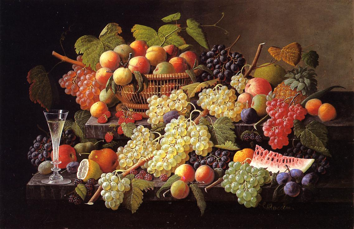 Still Life with Fruit Date unknown | Severin Roesen | oil painting