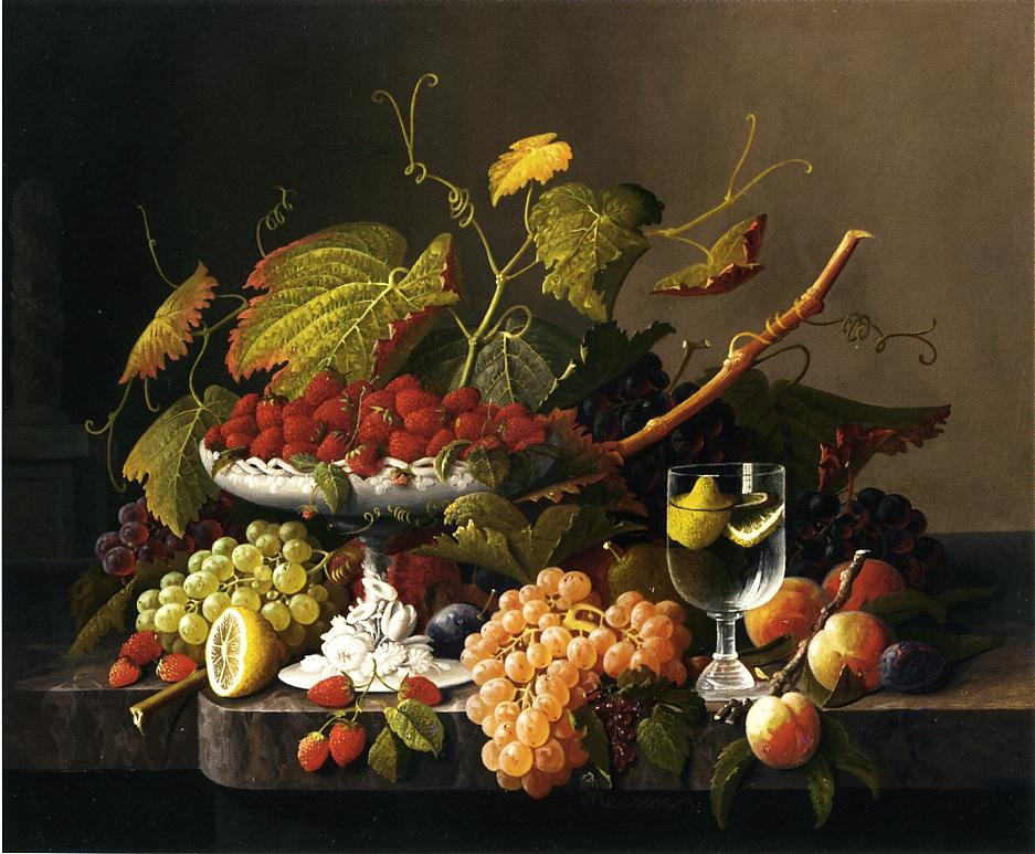 An Abundance of Fruit 1860 | Severin Roesen | oil painting