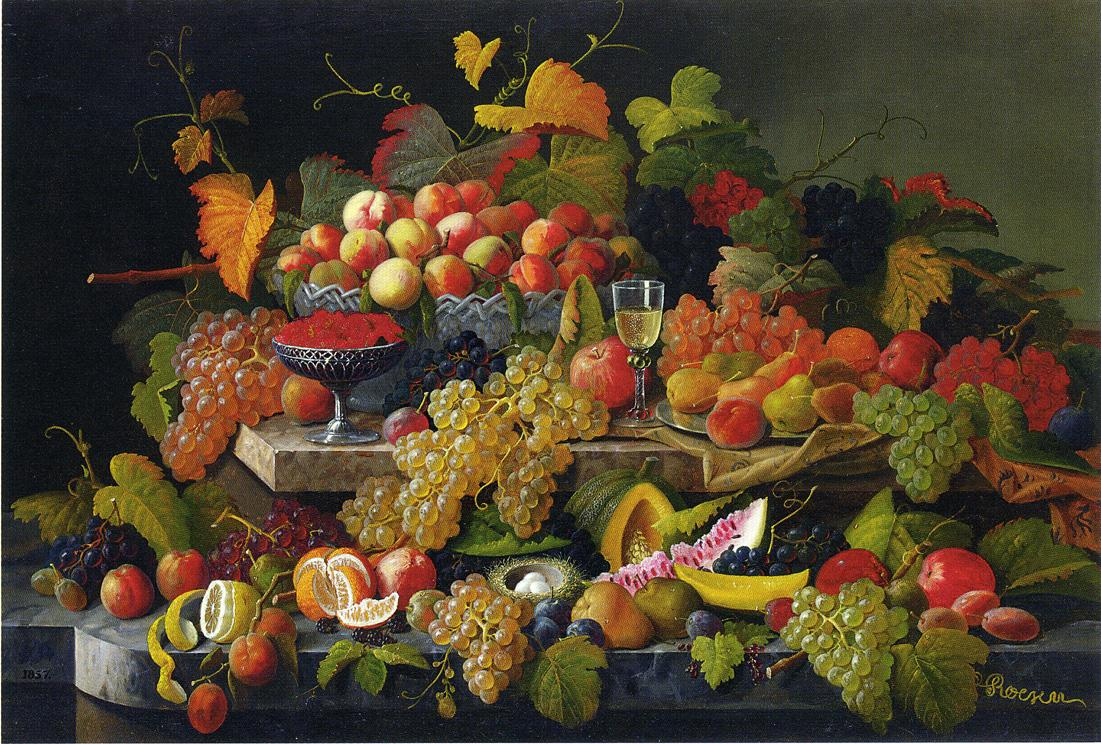 Still Life with Fruit 1857 | Severin Roesen | oil painting