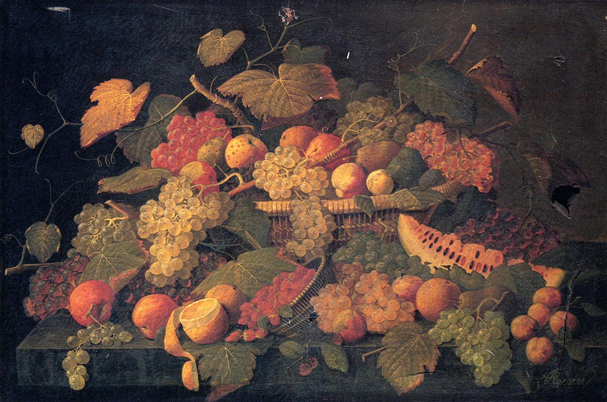 Still Life An Abundance of Fruit Date unknown | Severin Roesen | oil painting