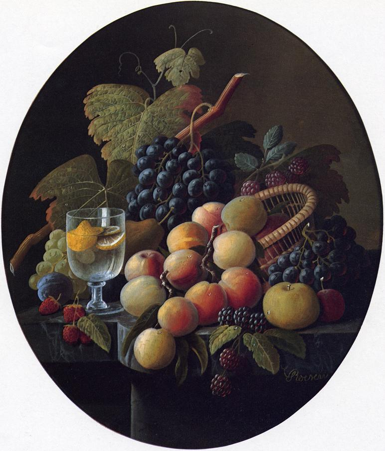Still Life with Fruit and Wine Glass Date unknown | Severin Roesen | oil painting