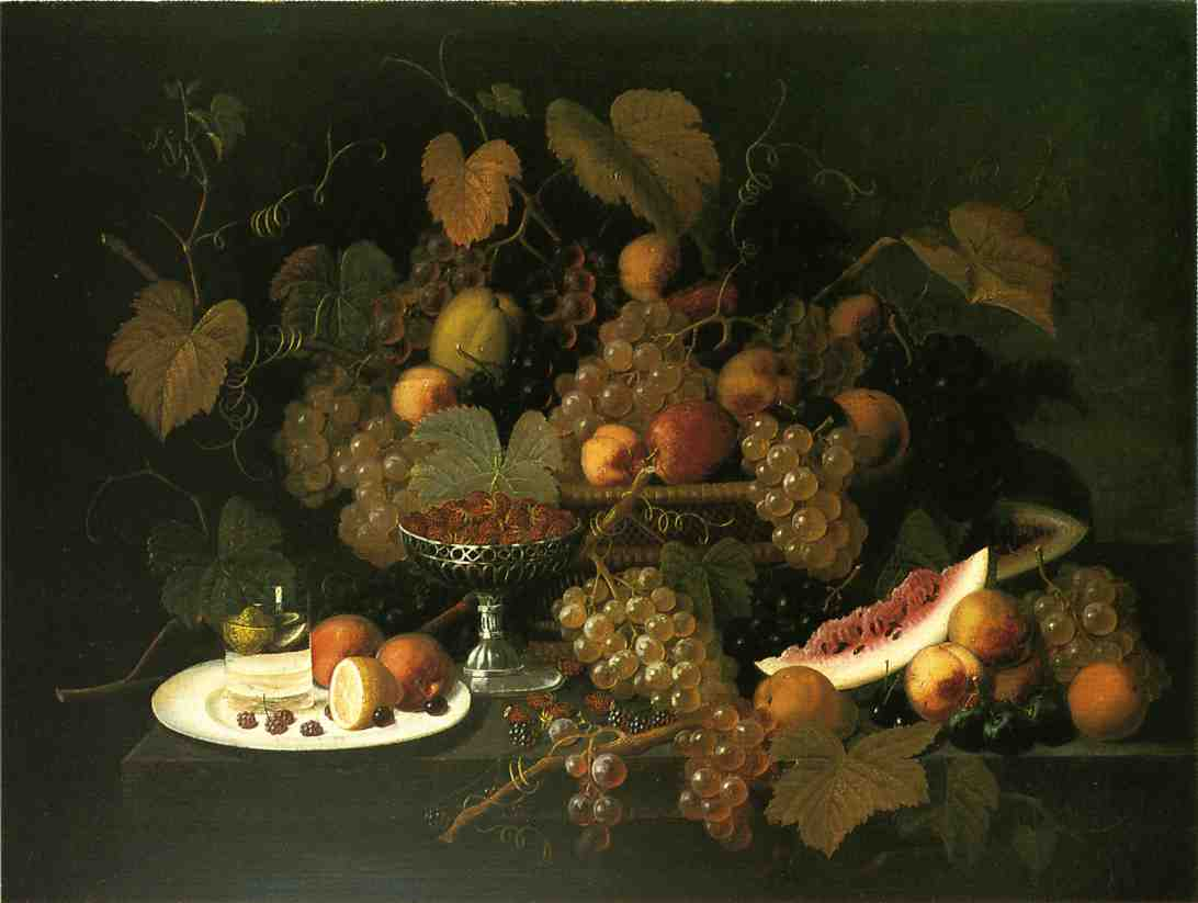 Still Life with Fruit 1852 | Severin Roesen | oil painting