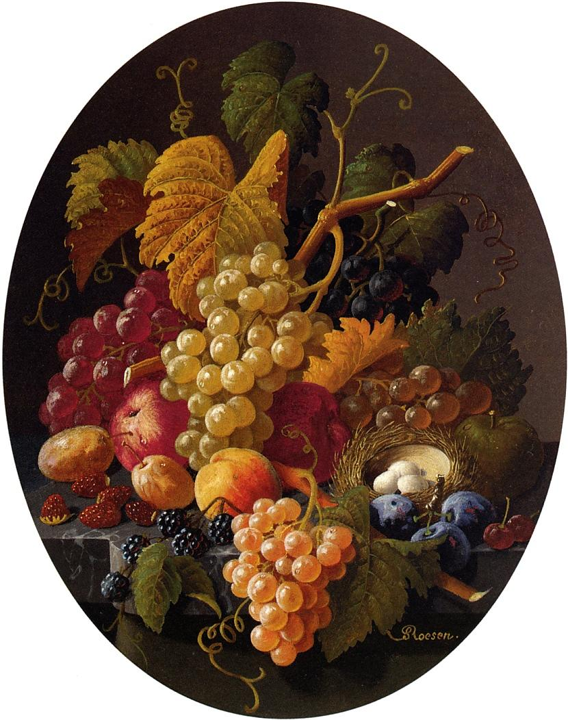 Still Life with Fruit 1855 | Severin Roesen | oil painting