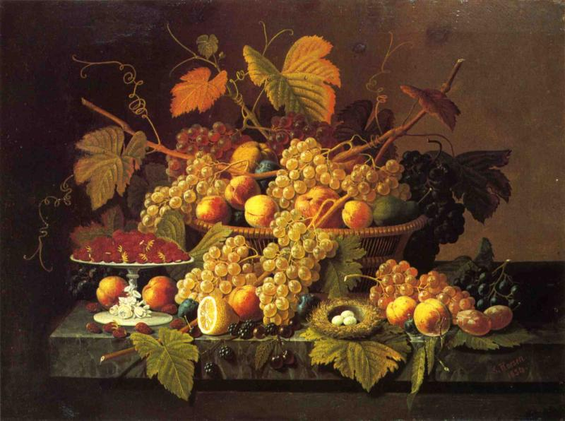Still Life with Fruit 1854 | Severin Roesen | oil painting