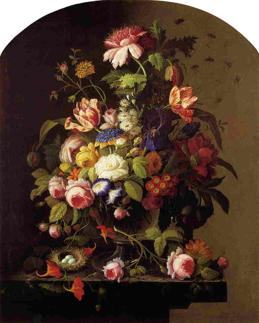 Still Life Flowers 1850 | Severin Roesen | oil painting