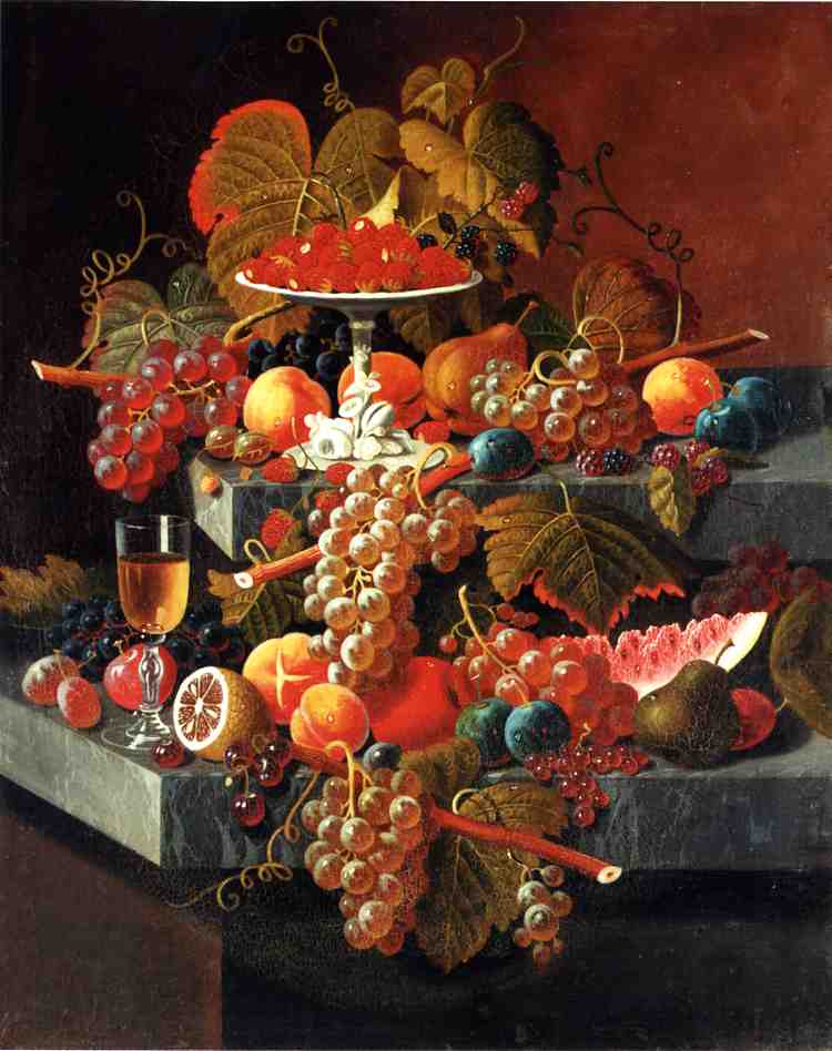 Fruit Composition with Tazza of Strawberries Date unknown | Severin Roesen | oil painting