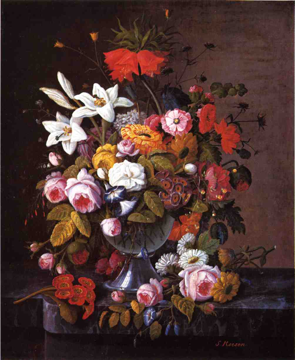 Still Life with Flowers Date unknown | Severin Roesen | oil painting