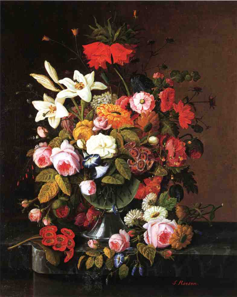 Floral Still Liife Date unknown | Severin Roesen | oil painting