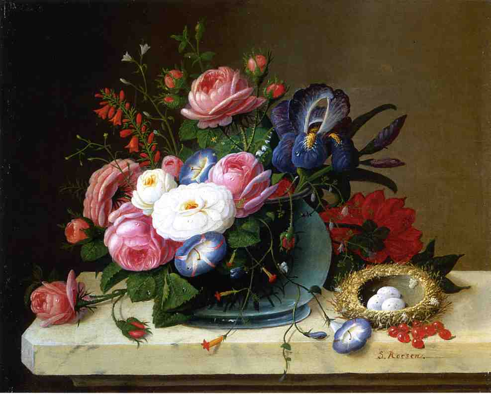 Still Life with Flowers 1816 1872 | Severin Roesen | oil painting