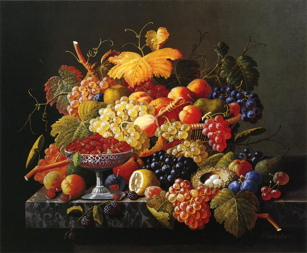 Natures Bounty Date unknown | Severin Roesen | oil painting