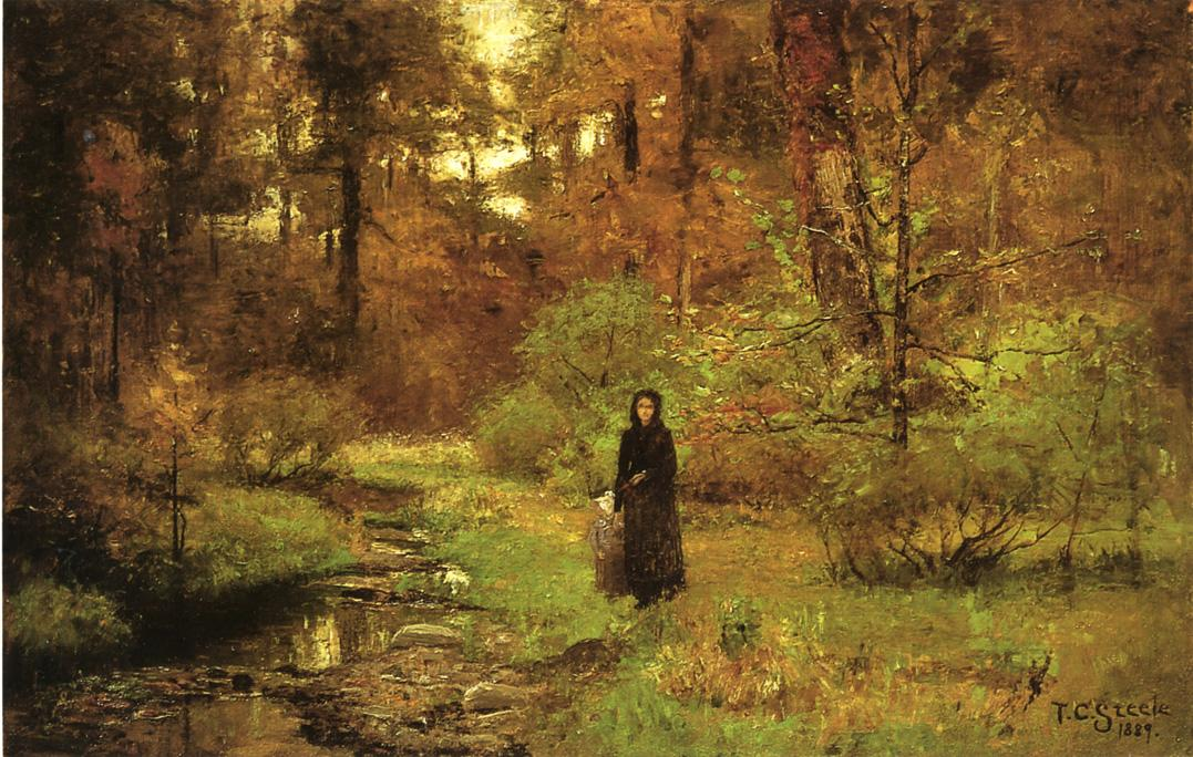 The Brook in the Woods 1889 | Theodore Clement Steele | oil painting