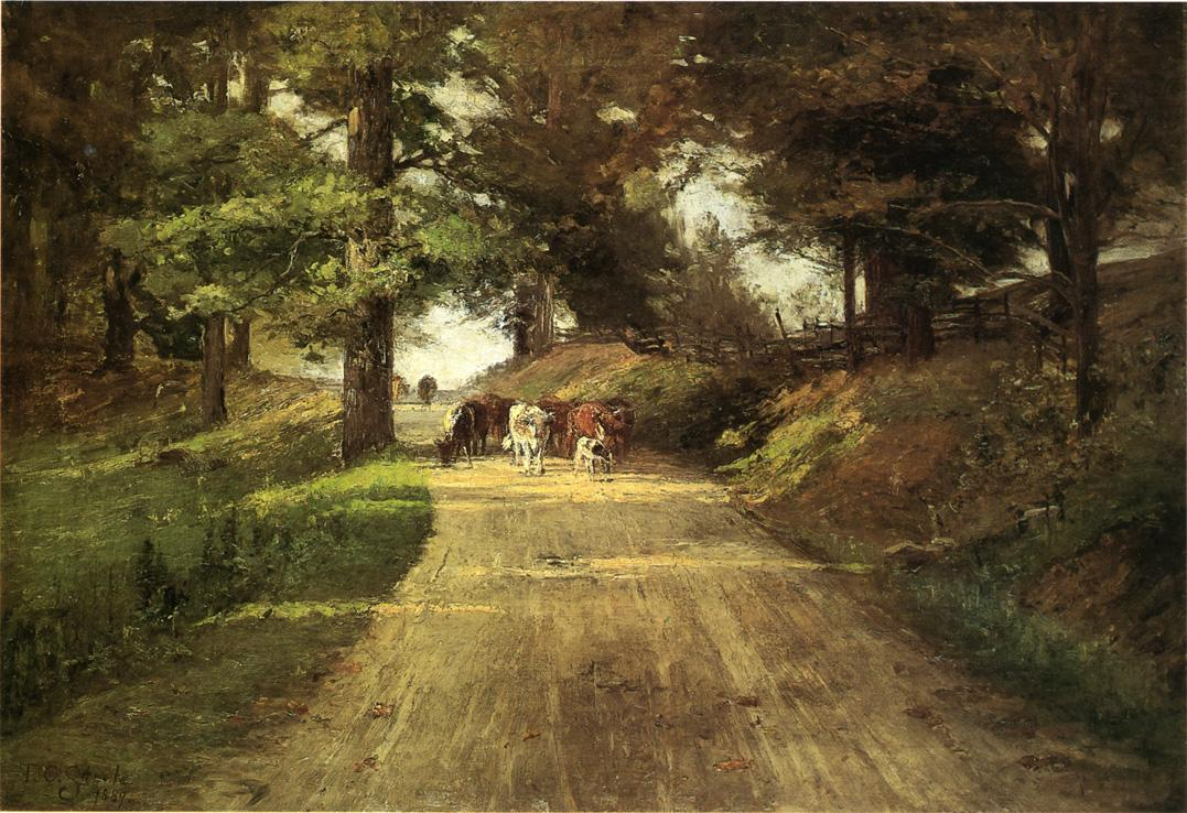 An Indiana Road 1889 | Theodore Clement Steele | oil painting