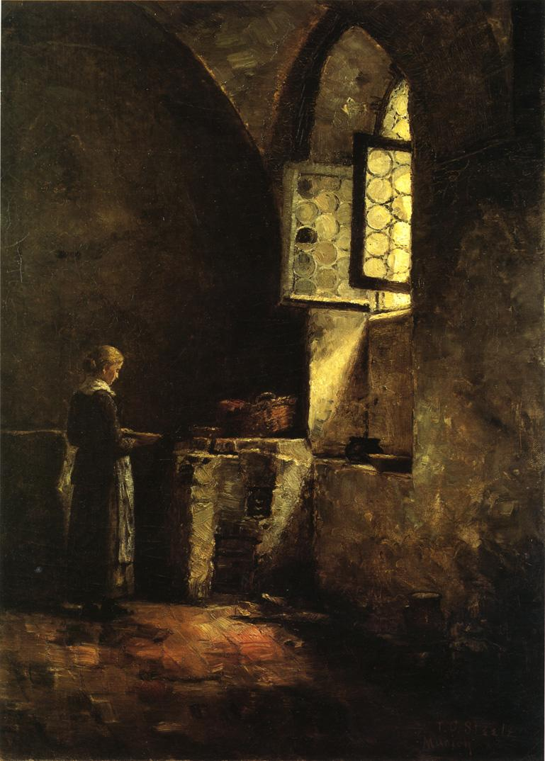 A Corner in the Old Kitchen of the Mittenheim Cloister 1883 | Theodore Clement Steele | oil painting