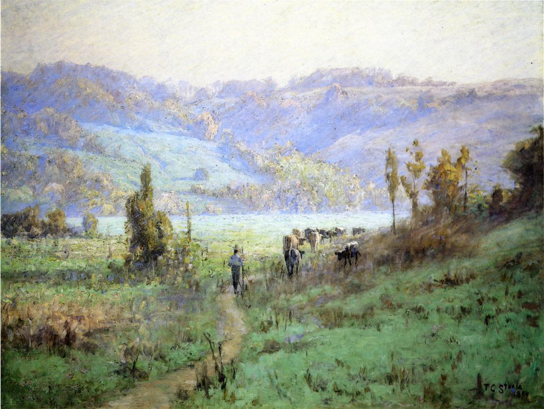 In the Whitewater Valley near Metamora 1894 | Theodore Clement Steele | oil painting