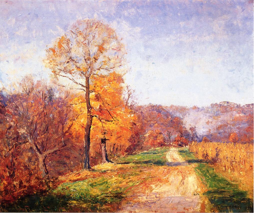 Along a Country Lane 1901 | Theodore Clement Steele | oil painting