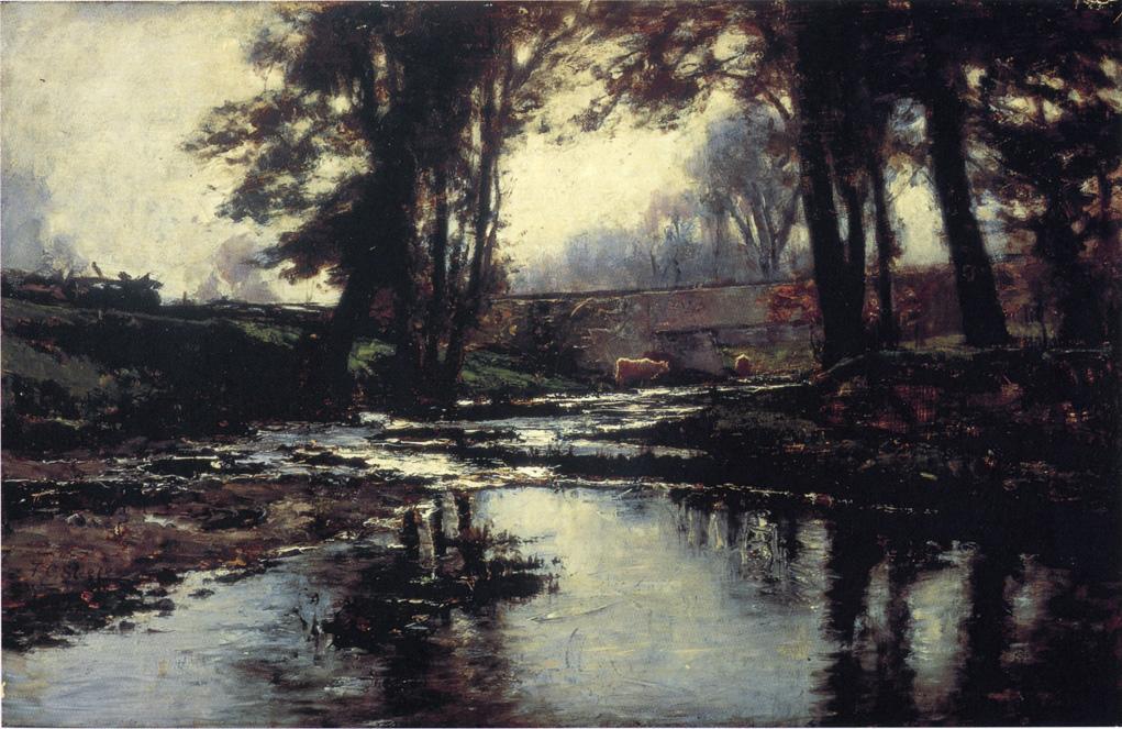 Pleasant Run 1887 | Theodore Clement Steele | oil painting