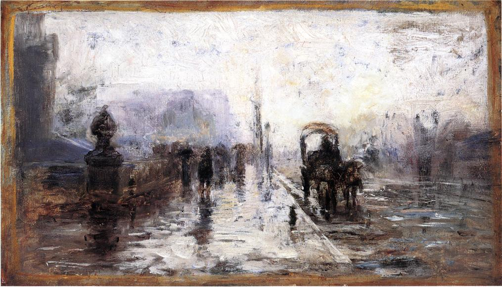 Street Scene with Carriage 1894 | Theodore Clement Steele | oil painting