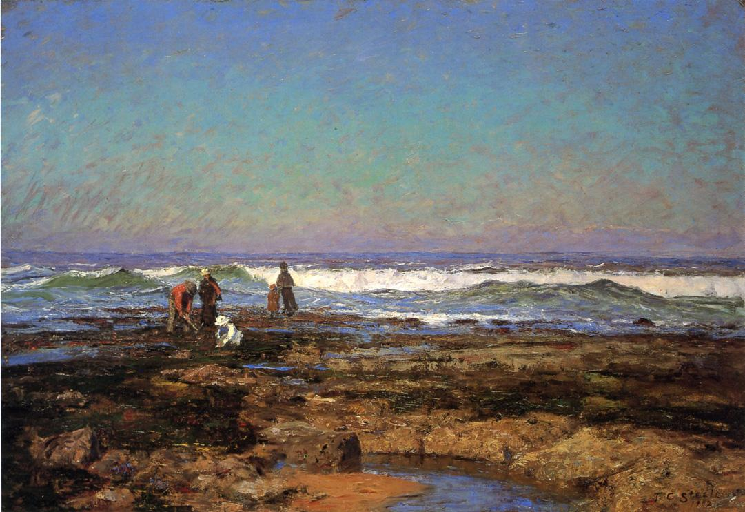 Clam Diggers 1902 | Theodore Clement Steele | oil painting