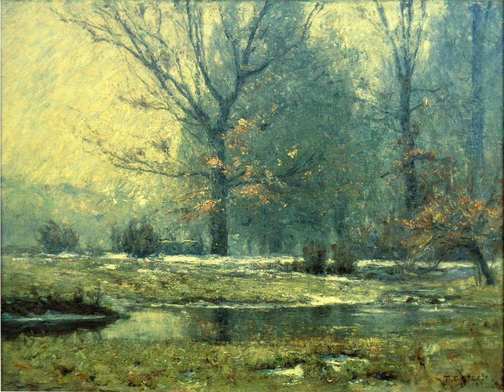 Creek in Winter 1899 | Theodore Clement Steele | oil painting