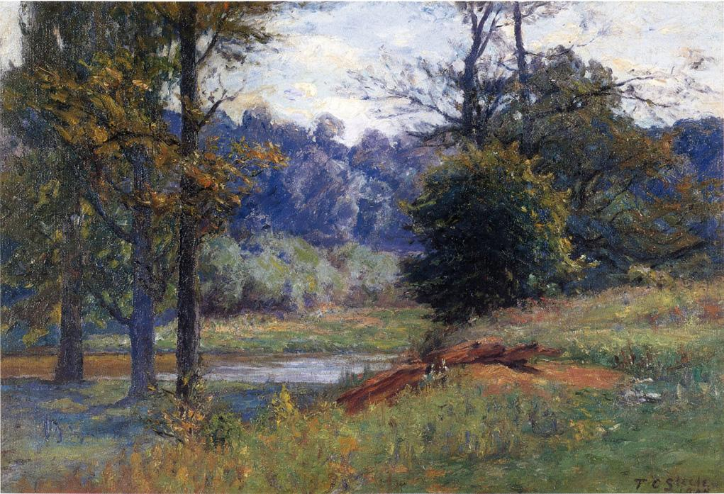 Along the Creek (aka Zionsville) 1905 | Theodore Clement Steele | oil painting