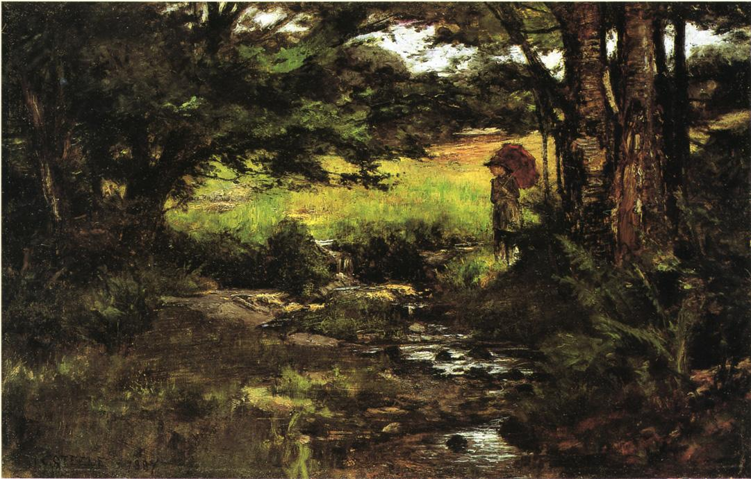 Brook in Woods 1887 | Theodore Clement Steele | oil painting