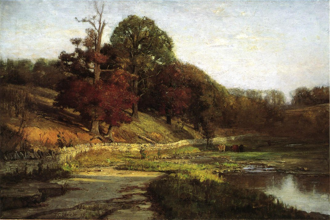 The Oaks of Vernon 1887 | Theodore Clement Steele | oil painting
