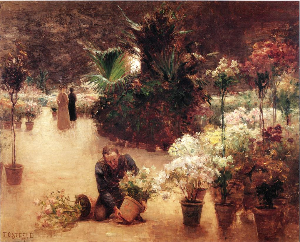 Flower Mart 1890 | Theodore Clement Steele | oil painting