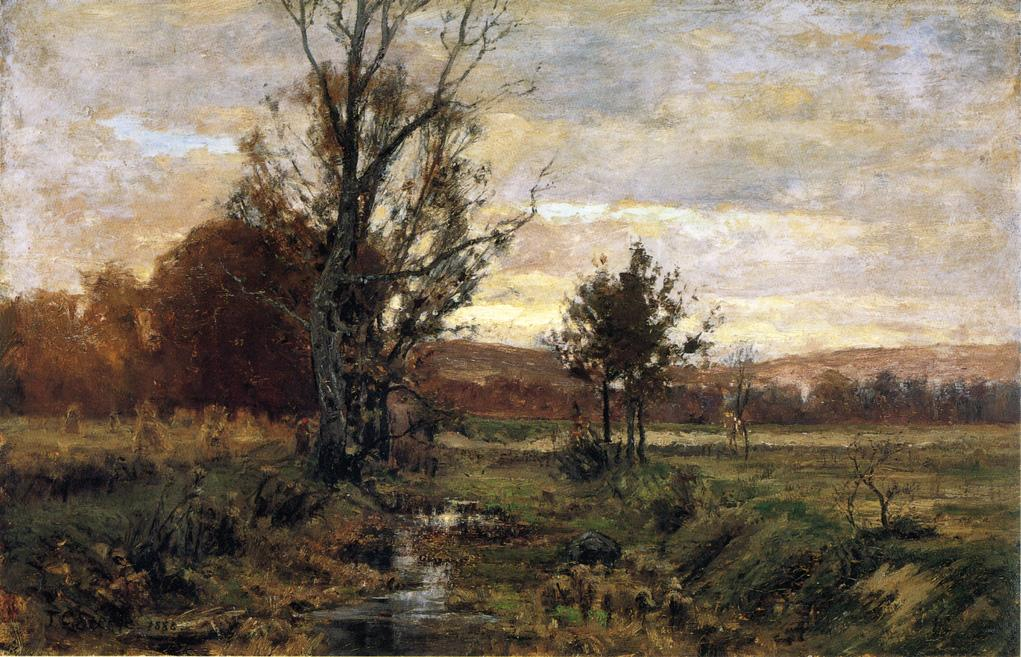 A Bleak day 1888 | Theodore Clement Steele | oil painting
