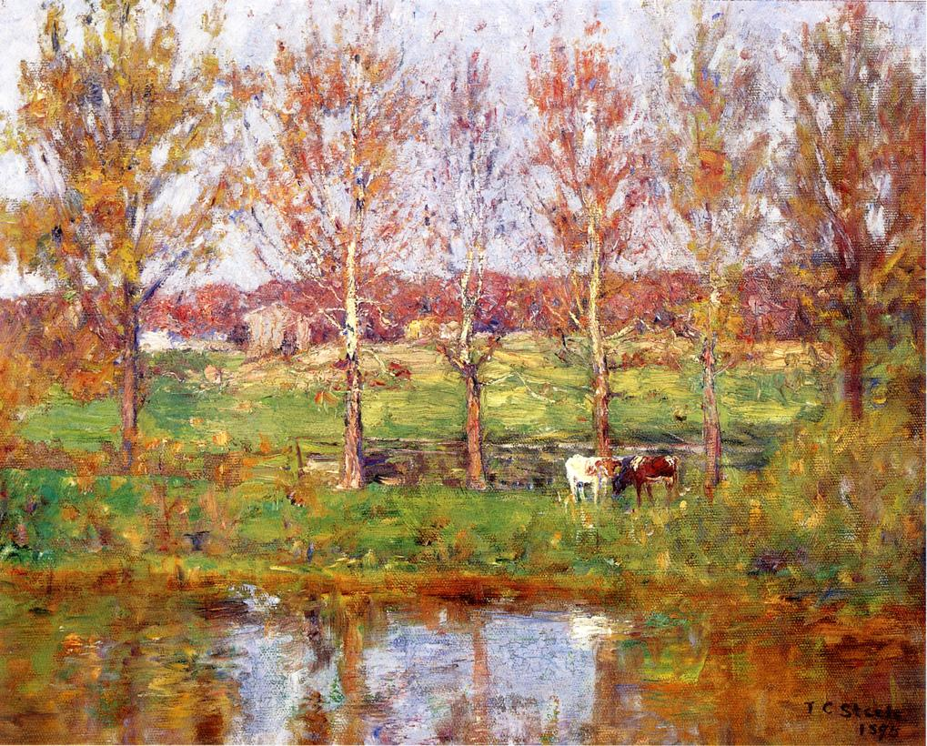 Cows by the Stream 1895 | Theodore Clement Steele | oil painting