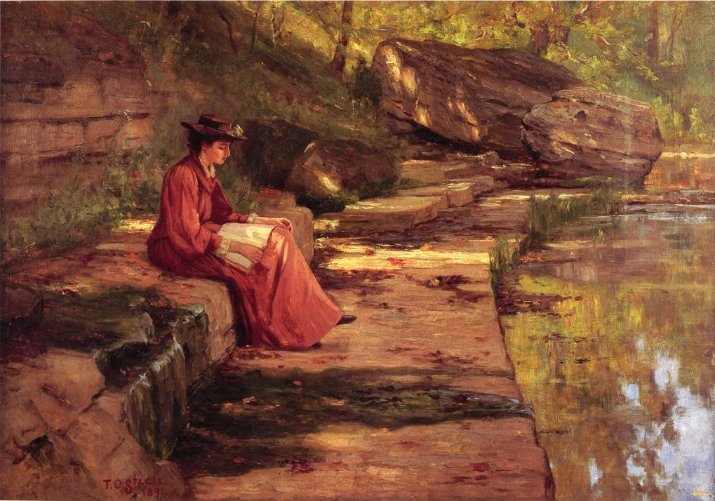 Daisy by the River 1891 | Theodore Clement Steele | oil painting