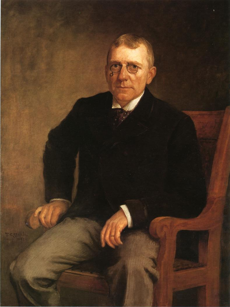 Portrait of James Whitcomb Riley 1891 | Theodore Clement Steele | oil painting