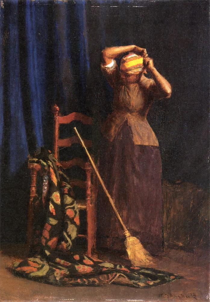 The Chore 1888 | Thomas P. Anschutz | oil painting